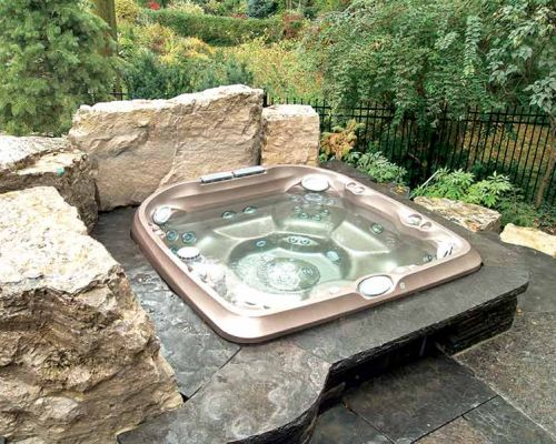 Jacuzzi® Hot Tub Backyard Installation Western New York
