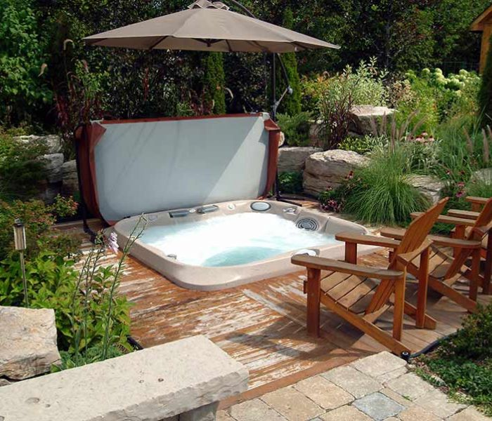 Jacuzzi® Hot Tub Covered Umbrella Western NY
