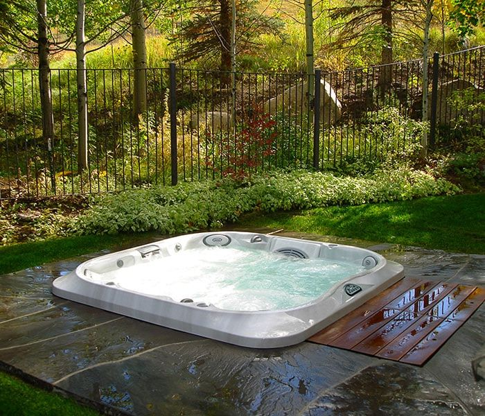 Jacuzzi® Hot Tub Forest Installation Western New York