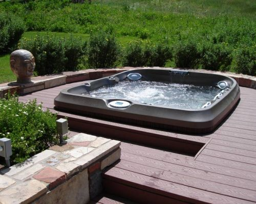 Jacuzzi® Hot Tub In Deck Installation Amherst New York