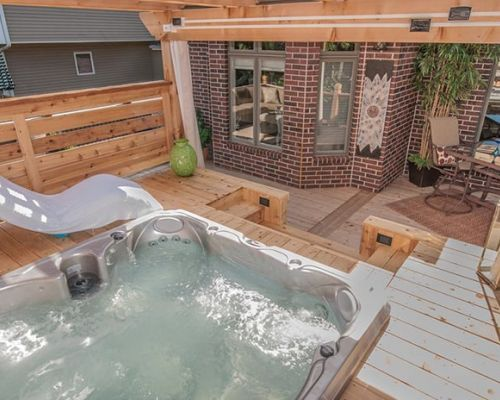 Outdoor Deck Jacuzzi® Hot Tub Install Western New York
