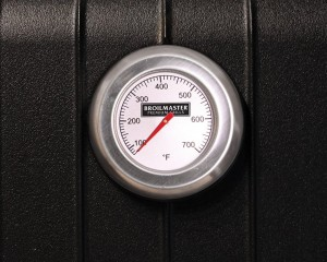 Close-up of a Broilmaster Grill thermostat